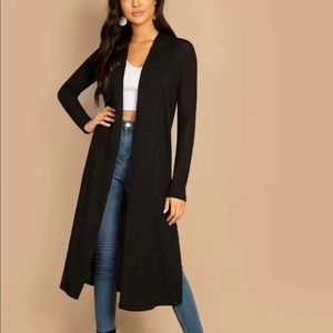 Jackets & Blazers - SAMPLE: NWT Black Split Side Longline Cardigan